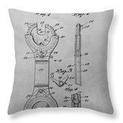 Open End Ratchet Wrench Throw Pillow
