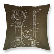 Open End Ratchet Wrench Patent Throw Pillow