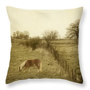Open Fields Throw Pillow