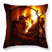 Open Fire Throw Pillow