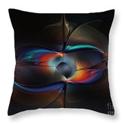 Open Minded-abstract Art Throw Pillow
