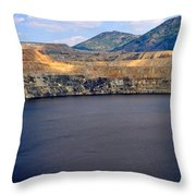 Open Pit Copper Mine Throw Pillow