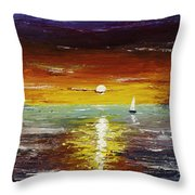 Open Sea Throw Pillow by Gray  Artus