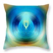 Open Spirit - Energy Art By Sharon Cummings Throw Pillow