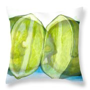 Open Up The Sour Throw Pillow