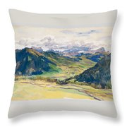 Open Valley. Dolomites Throw Pillow