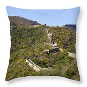 Open View Of The Great Wall 612 Throw Pillow