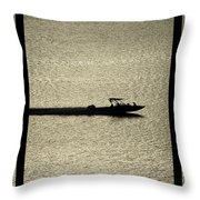 Open Waters Triptych Throw Pillow
