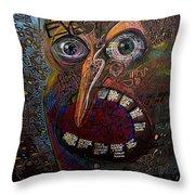 Open Your Eyes Throw Pillow by Frank Robert Dixon