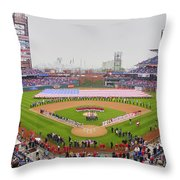 Opening Day Ceremonies Featuring Throw Pillow