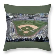 Opening Day Upper Deck Throw Pillow by Chris Tarpening