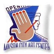 Opening Of Mason City Art Center Poster Throw Pillow