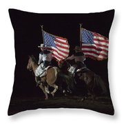 Opening Of Westernaires Ceremony Throw Pillow