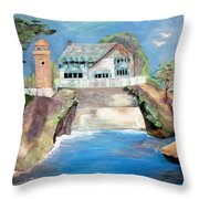 Opera By The Sea Throw Pillow by Jan Moore