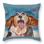 Opera Dog Throw Pillow