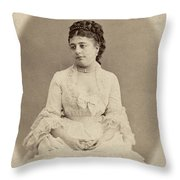 Opera Singer, 19th Century Throw Pillow
