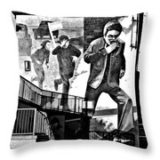 Operation Motorman Mural Throw Pillow