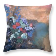Ophelia Among The Flowers Throw Pillow by Odilon Redon