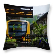Oporto Train Station Throw Pillow
