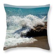 Opposing Forces Throw Pillow by Michelle Wiarda
