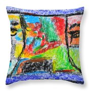 Opposites Attract Throw Pillow