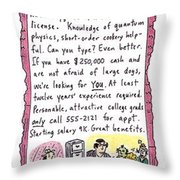 Opp'y Of A Lifetime Throw Pillow