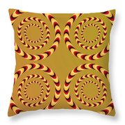 Optical Ilusions Summer Spin Throw Pillow