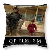 Optimism Inspirational Quote Throw Pillow by Stocktrek Images
