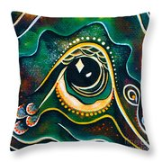 Optimist Spirit Eye Throw Pillow