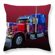 Optimus Prime Red Throw Pillow