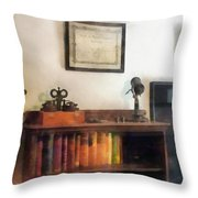 Optometrist - Eye Doctor's Office With Diploma Throw Pillow