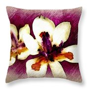 Opulent Orchid Throw Pillow
