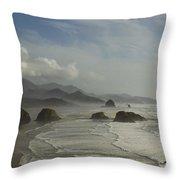 Or Coast Ecola 1 A Throw Pillow
