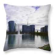 Oracle Buildings In Redwood City Ca Throw Pillow