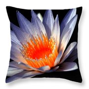 Orange And Blue Lily...   # Throw Pillow