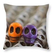 Orange And Purple Throw Pillow