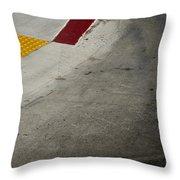 Orange Avenue Curb Cut Coronado California Throw Pillow