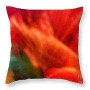 Orange Blossom Opening Throw Pillow
