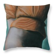 Orange Blouse Throw Pillow