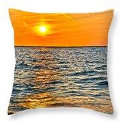Orange Burn Throw Pillow