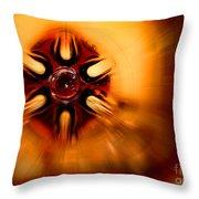 Orange Burst Abstract Throw Pillow