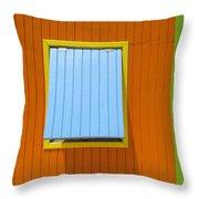 Orange Cabin Throw Pillow