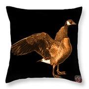 Orange Canada Goose Pop Art - 7585 - Bb  Throw Pillow