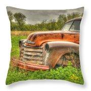 Orange Chevy Throw Pillow