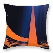 Orange City Throw Pillow