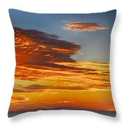 Orange Clouds Throw Pillow