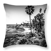 Orange County California In Black And White Throw Pillow