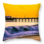 Orange County Panoramic Sunset Picture Throw Pillow