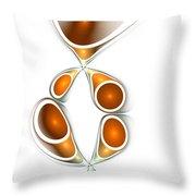 Orange Creation Throw Pillow