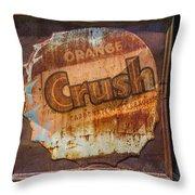 Orange Crush Sign Throw Pillow